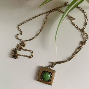 J Crew locket necklace